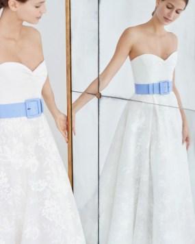 свадебное платье 2018 тенденция пояс Carolina Herrera