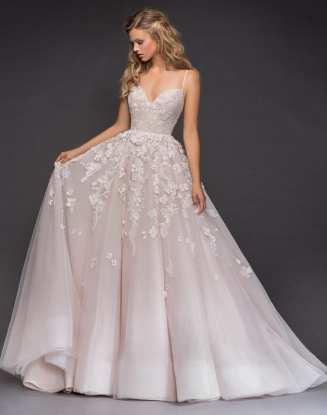 Hayley Paige свадебное платье розового пудровогоцвета