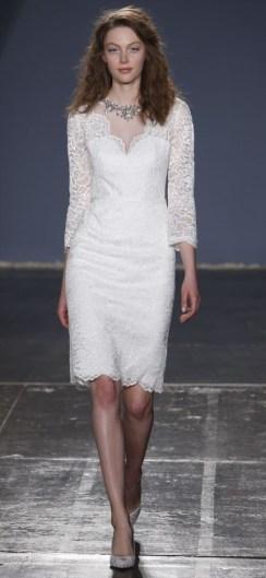 короткое сваденое платье Jenny Packham Bridal 2018