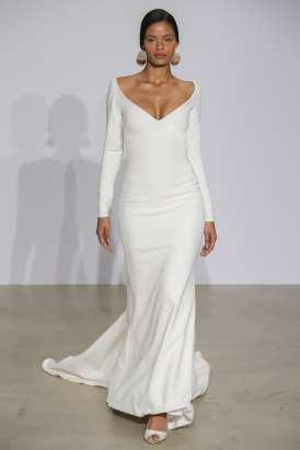 свадебное платье в стиле минимализм 2018 Justin Alexander