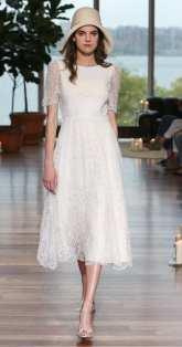 тенденция 2018 свадебное платье укороченное Laure De Sagazan