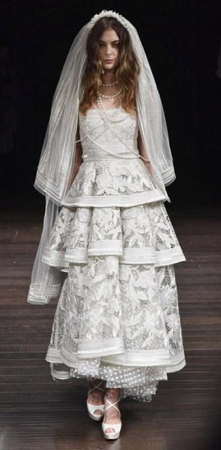 Naeem Khan Bridal 2018 укороченное сваденое платье