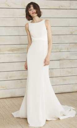 свадебное платье в стиле минимализм 2018 Nouvelle Amsale Bridal Spring 2018