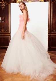 Oscar de la Renta свадебное платье розового цвета