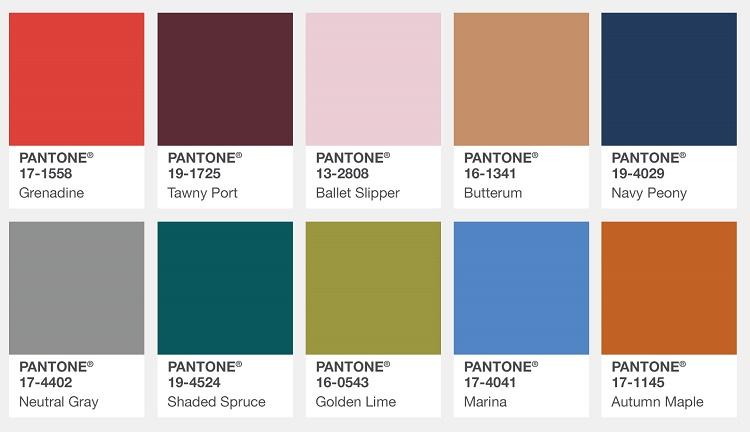 PANTONE - Цветовой отцет Пантон Осень зима 2017 2018 цветовая палитра Нью-Йорк