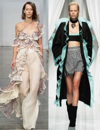 модный тренд весна лето 2017 - рюши везде