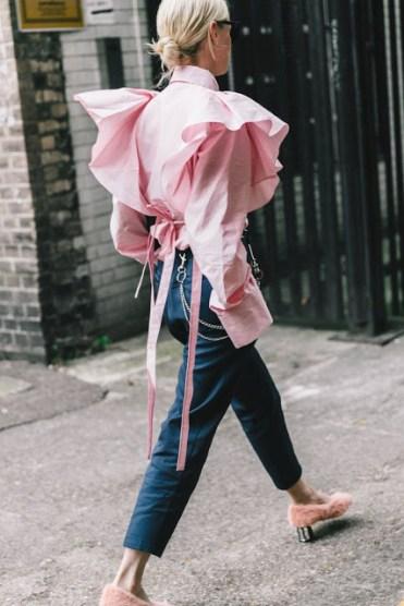 fashion trend SS 2017 Рубашка с оборками и/или объемыми рукавами