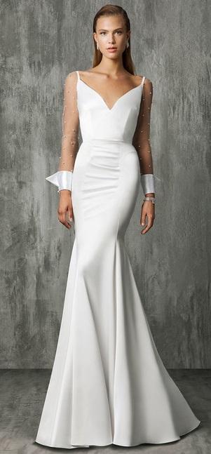 модный тренд свадебное платье с жемчугом 2018 Victoria Kyriakides