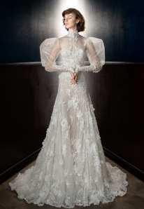 Galia Lahav свадебное платье с пышными руковами 2018