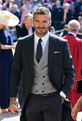 David Beckham al royal wedding Tight