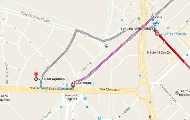 консульство России в Милане на карте