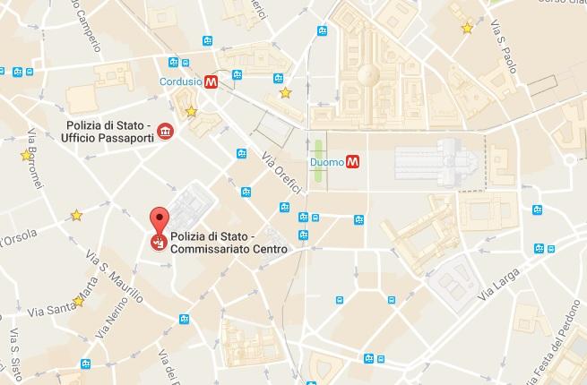 полиция в центре милана
