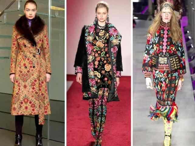 модный тренд осень 2017 цветы и этно