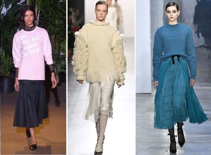модные пуоверы и свитера осени 2017 18 тренды
