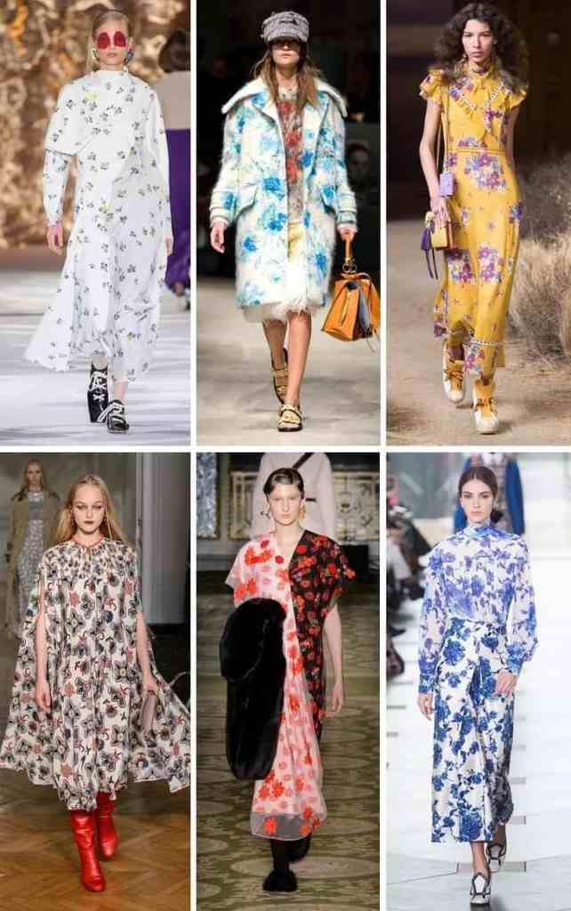 модный тренд зима осень 2017 2018 цветы