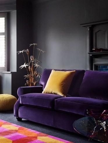 цвет года 2018 Ultra Violet Pantone в интерьере
