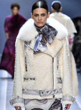 модная белая шуба дизайнерская 2017