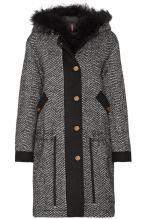 MONCLER tweed down coat-min