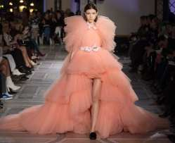 свадебное платье пышное розовое Giambattista Valli 2018