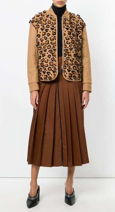 модный леопардовый принт 2018 куртка Marco di Vencenzo