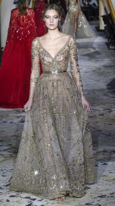 свадебное платье золотая вышивка zuhair murad couture 2018