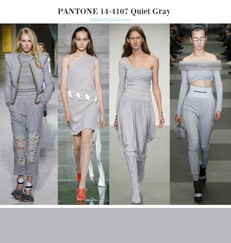 модный базовый тихий серый цвет Quiet Gray