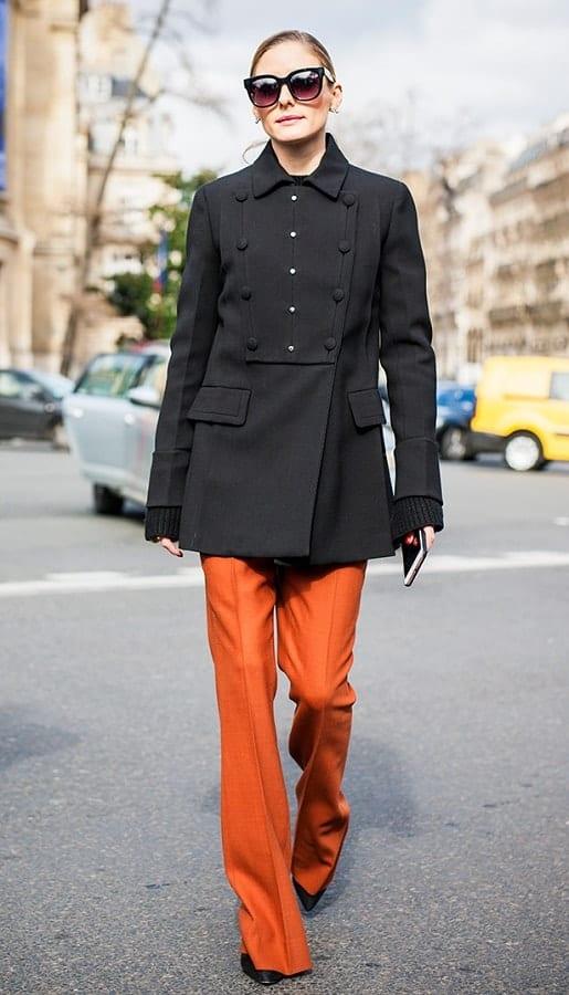модный цвет PANTONE 16-1255 Russet Orange - Земляной оранжевый стрит стайл