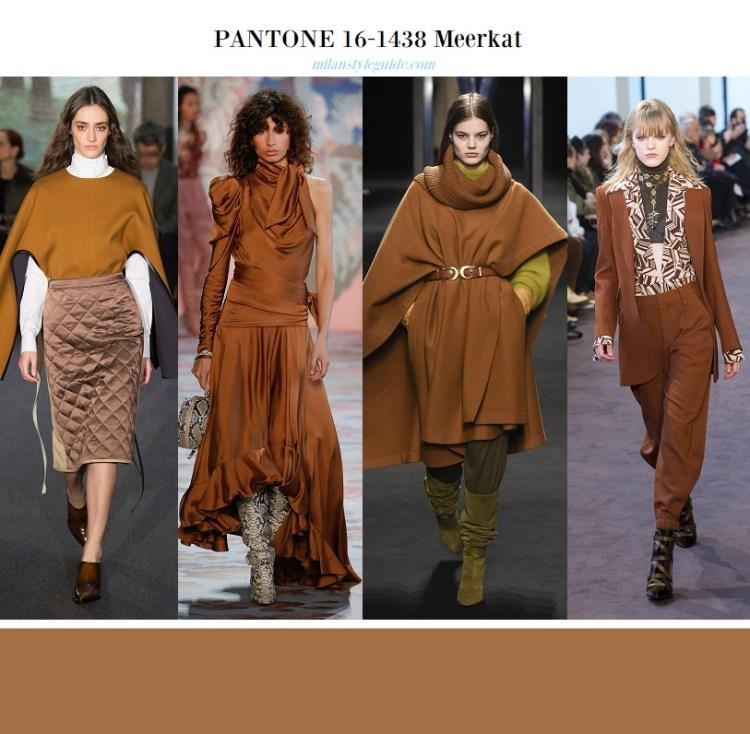 модные цвета Пантон осень зима 2018 2019 - базовая палитра PANTONE 14-1116 Meercat
