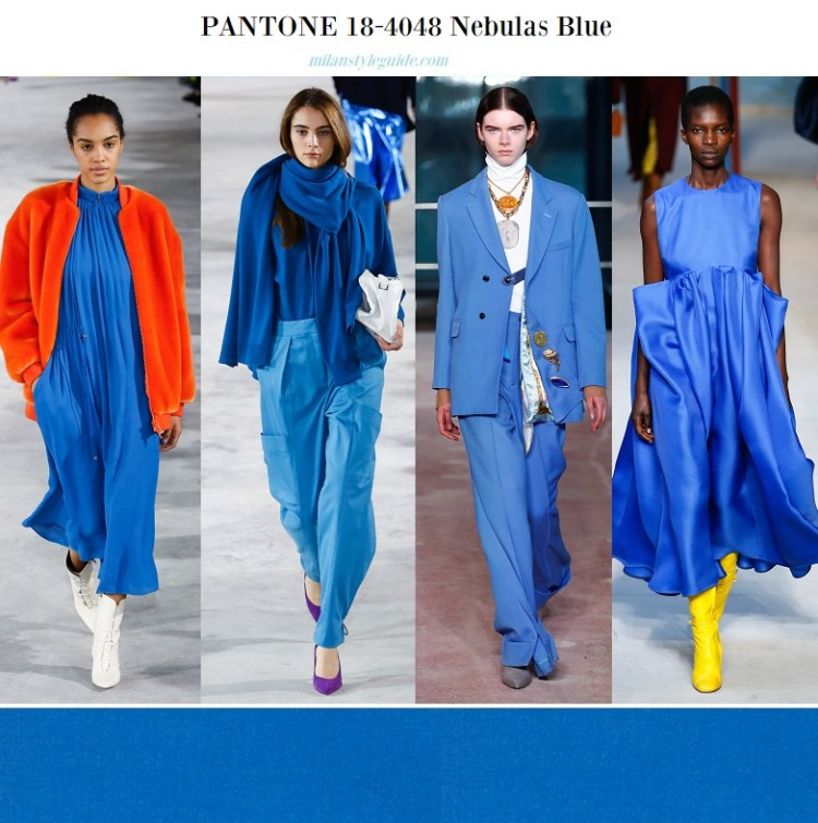 color fashion trend fall 2018 2019 PANTONE 18-4048 Nebulas Blue – Дымчато-синий
