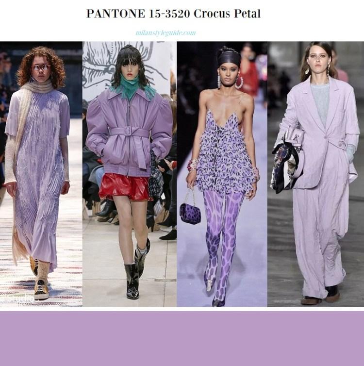 модный цвет Пантон осень 2018 зима 2019 PANTONE 15-3520 Crocus Petal – Лепестки крокуса