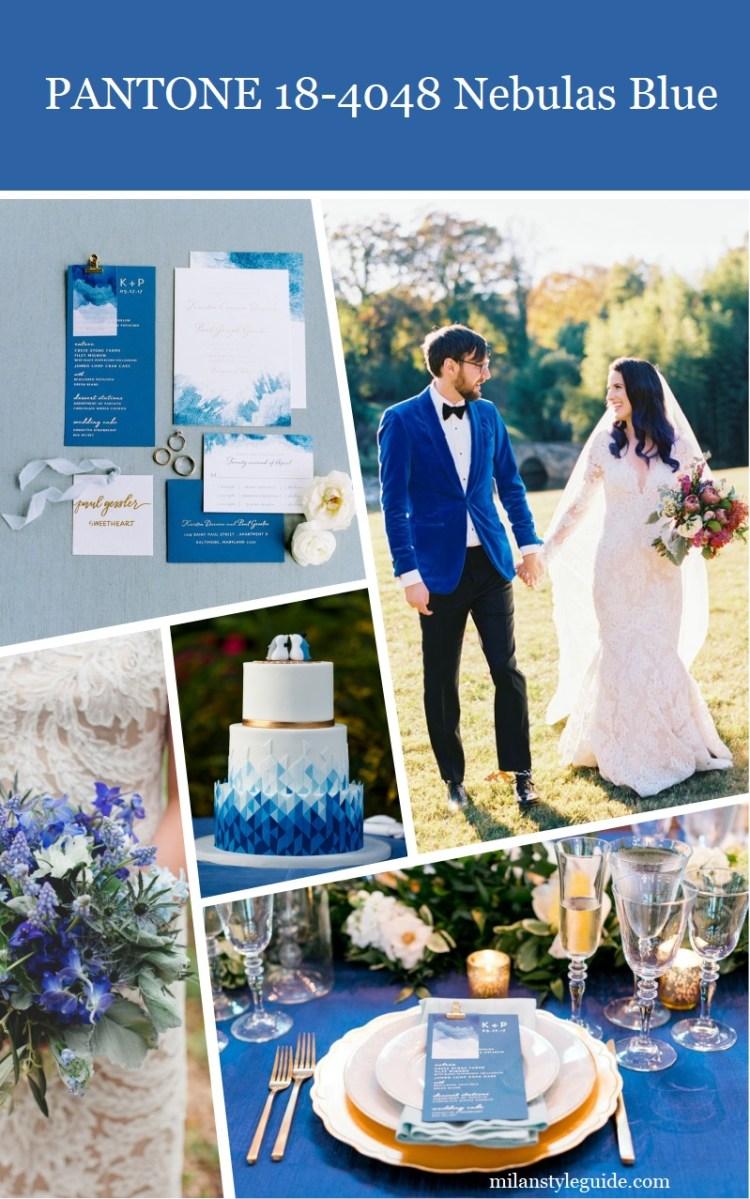 Panton Nebulas Blue цвет свадьбы осень зима 2018 - 2019 модный цвет