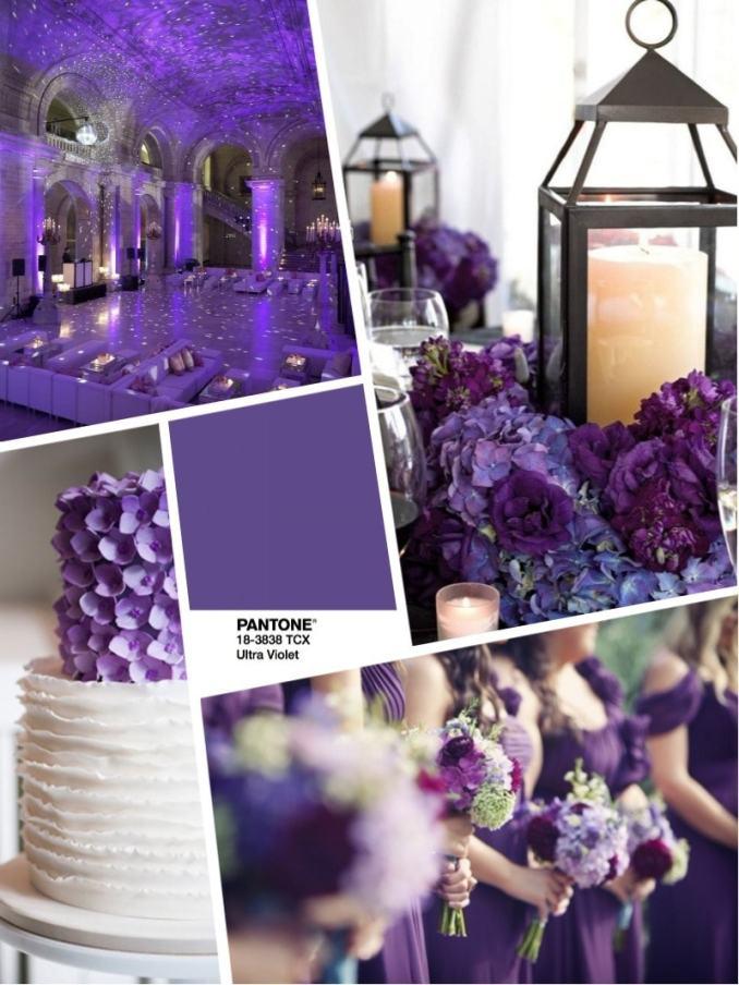 2018 color wedding 2018 цвет свадьбы 2018 - букет и оформление в цвете - ультрафиолет