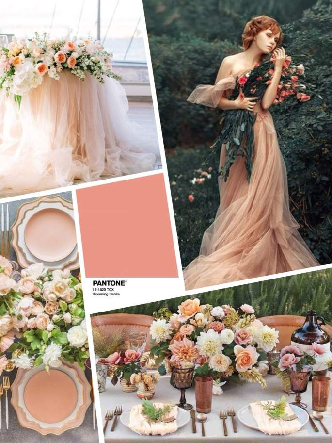 Цвет свадьбы 2018 - розовый Blooming Dahlia