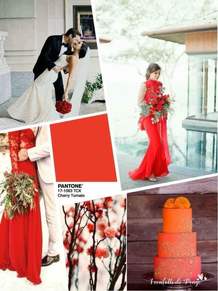Цвет свадьбы 2018 - красный Cherry Tomato