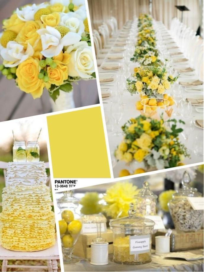 wedding color 2018 meadowlark Цвет свадьбы 2018 – желтый Meadowlark