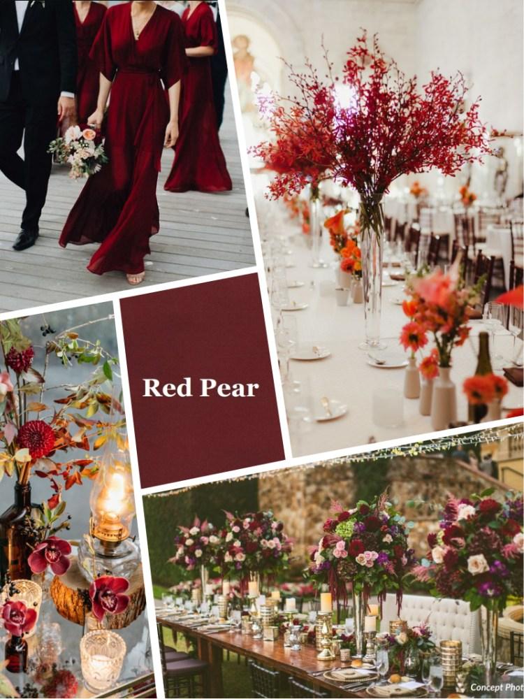 Pantone цвет свадьбы Red pear осень зима 2018 - 2019 модный цвет