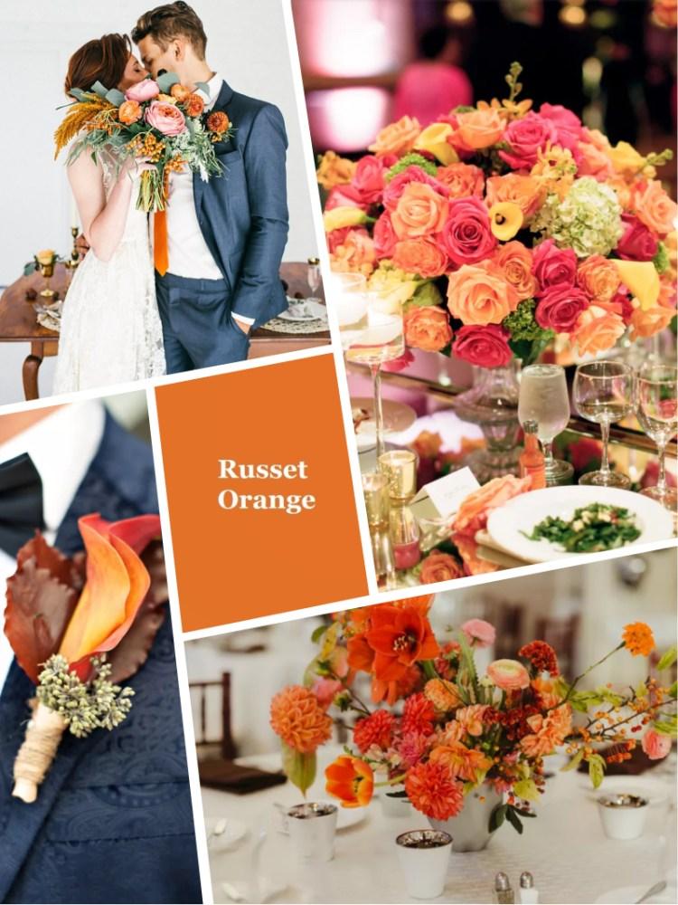 цвет свадьбы Russet Orange осень зима 2018 - 2019 модный цвет