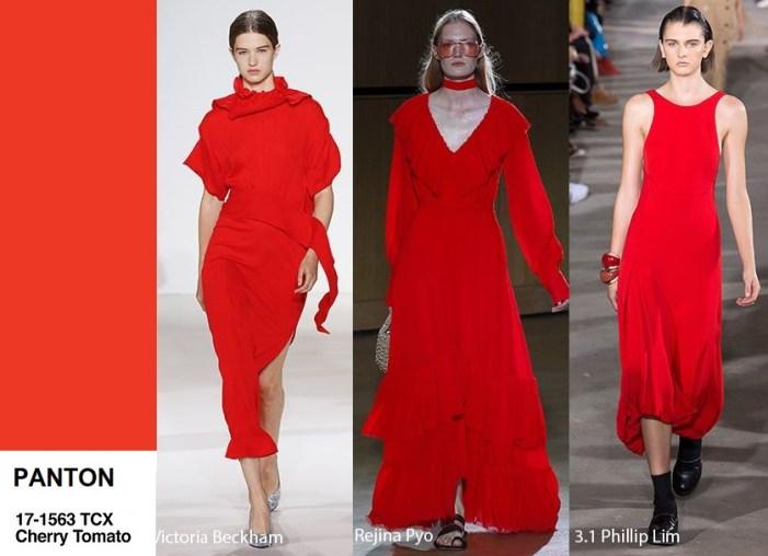 color trend Cherry Tomato panton 2018 red