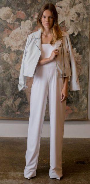 модная тенденция 2019 свадебный комбинезон для невесты Bhldn