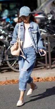 весна 2018 модный тренд джинсовка как носить стрит стайл