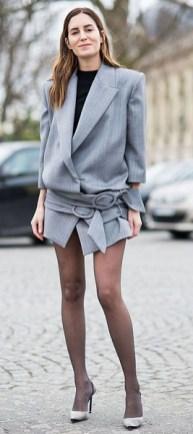 длинный жакет как платье мода весна лето 2018