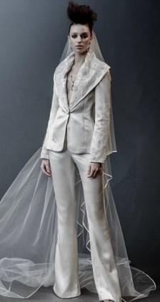 модный свадебный наряд с брюками 2019 naeem khan