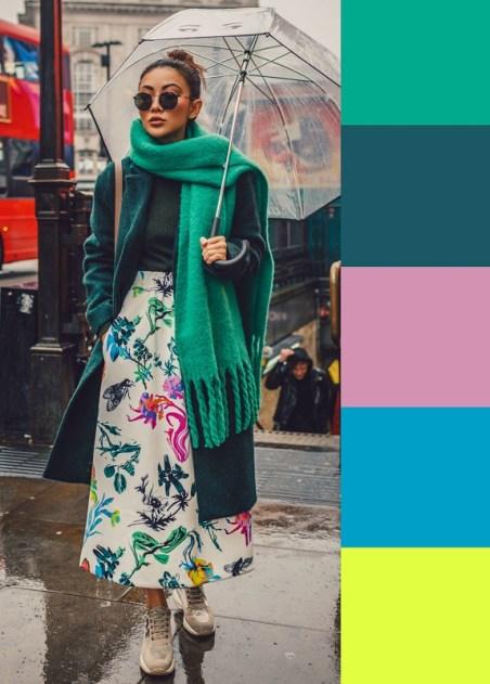 модный зеленый цвет Пантон Аркадия мода весна лето 2018