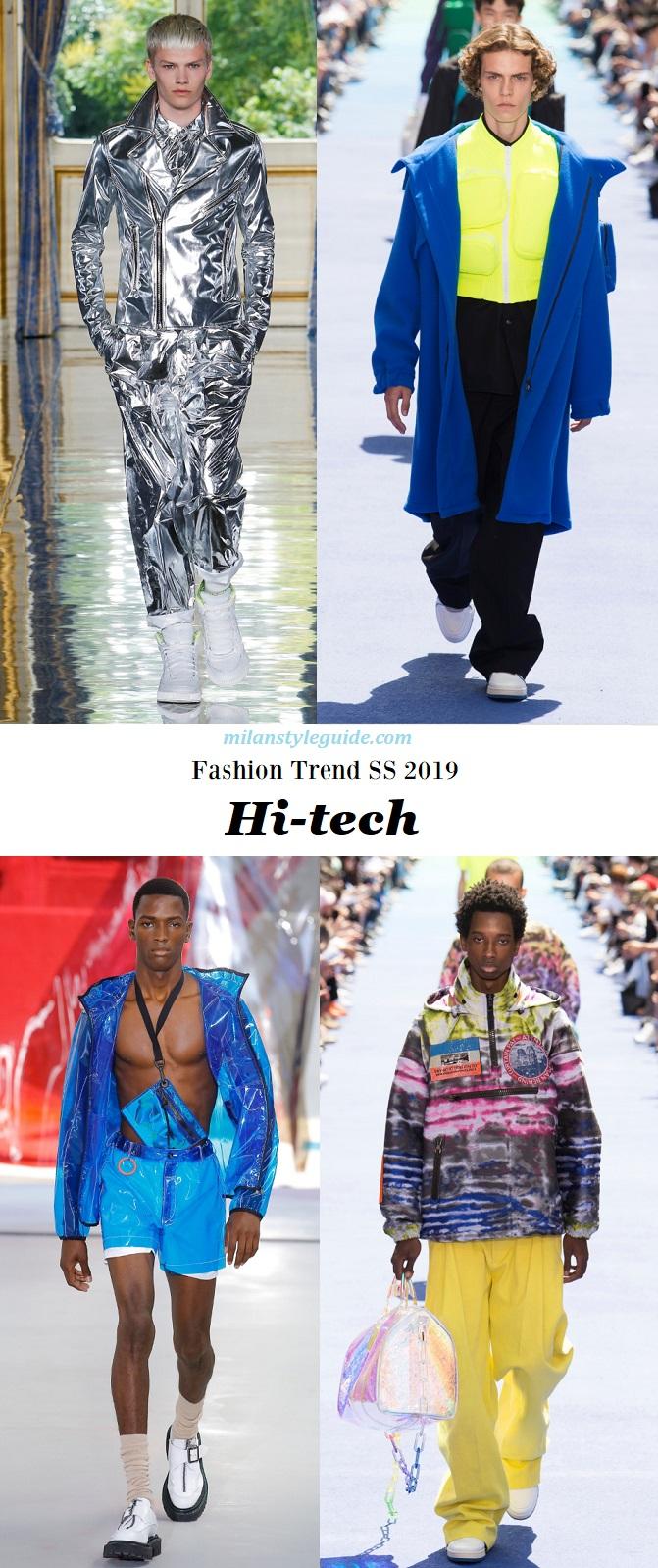 Fashion trend men 2019 Hi-tech модная тенденции 2019