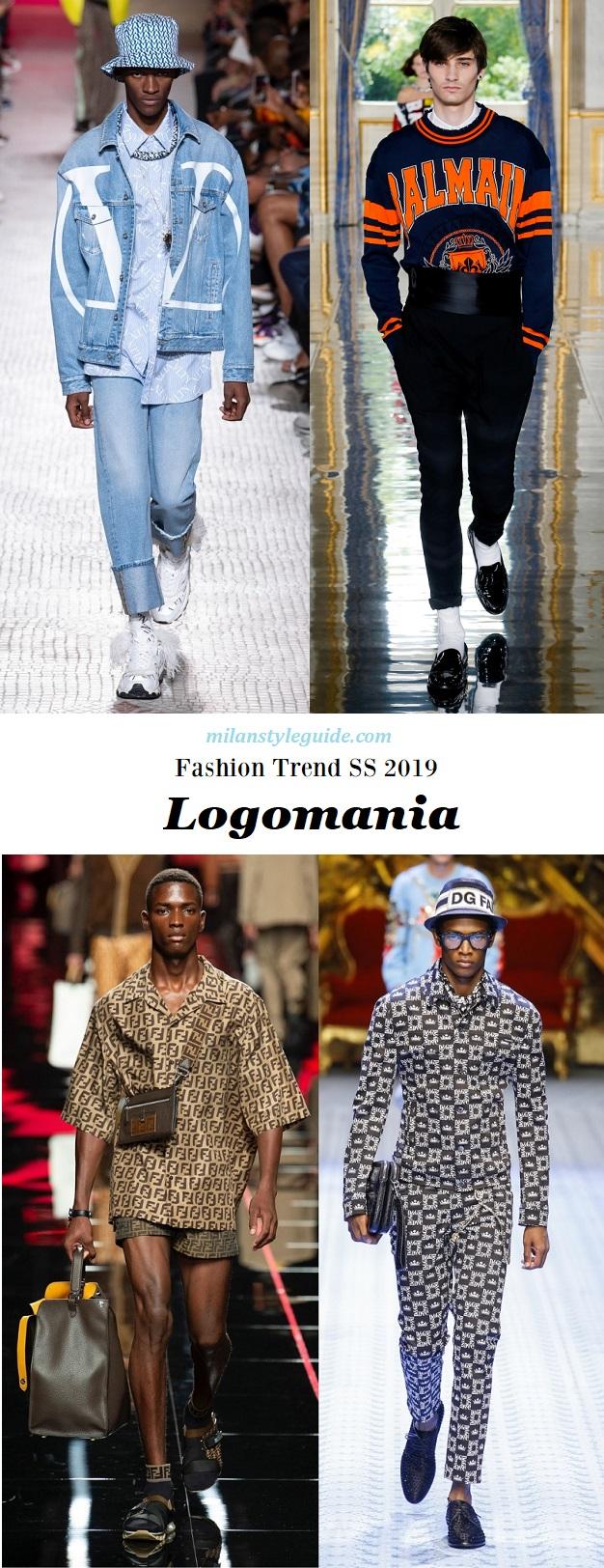 модная тенденции 2019 логомания