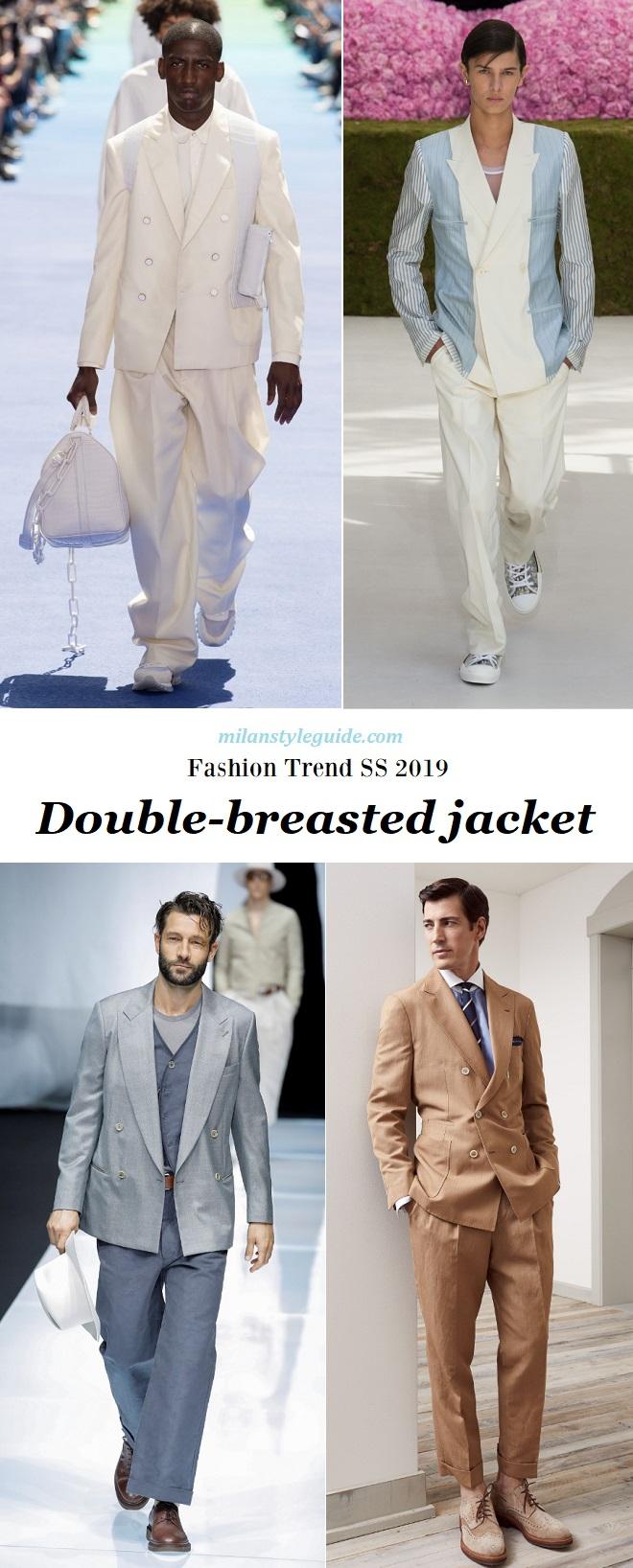 модная тенденции 2019 двубортный пиджак