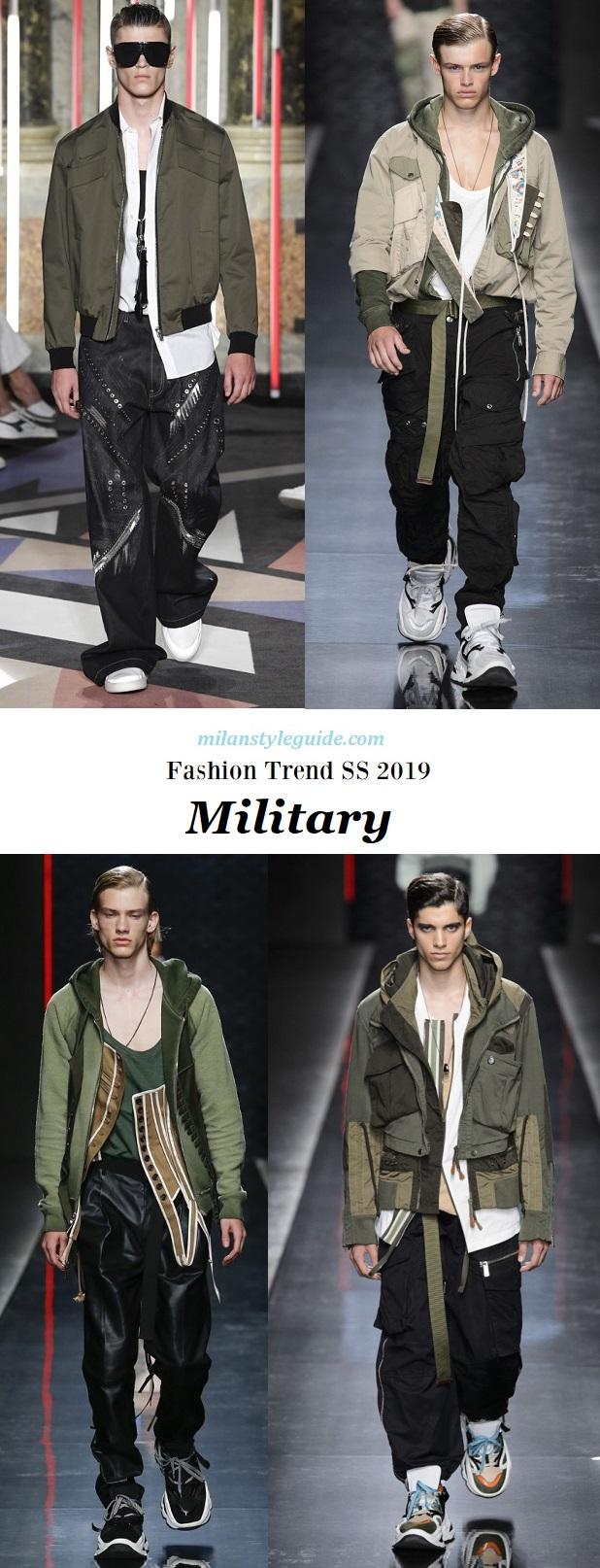 модная тенденции 2019 fashion trend SS 2019 Millitary