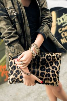 как стильно носить леопард - сумка