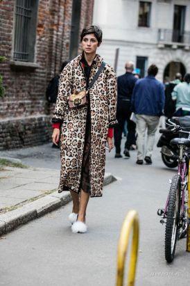с чем носить леопардовое пальто - стильные образы