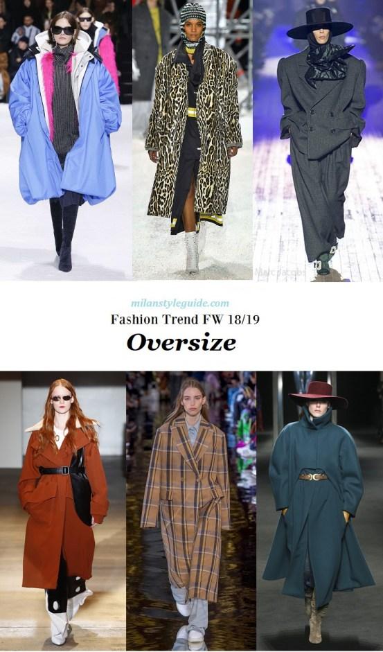 модная тенденция осень зима оверсайз